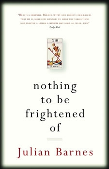 Sara Reads Book NOTHING TO BE FRIGHTENED OF by Julian Barnes